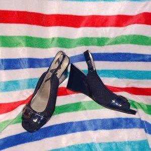 Anne Klein Sport Shoes - Anne Klein Sport wedge heels in Navy.  Size 9M